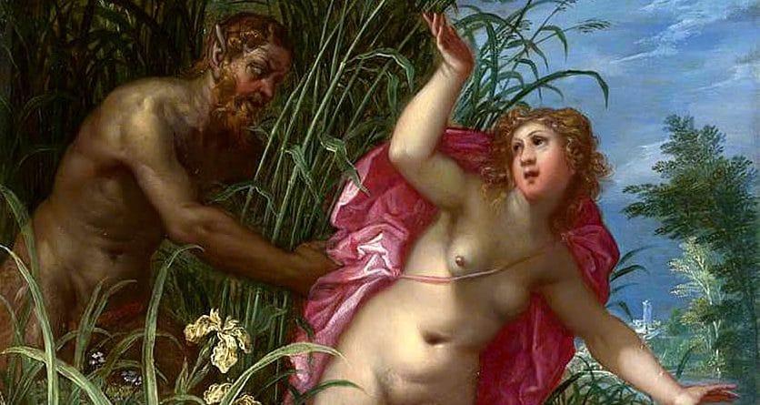 """Pan che insegue Siringa"", dipinto di Hendrick van Balen."