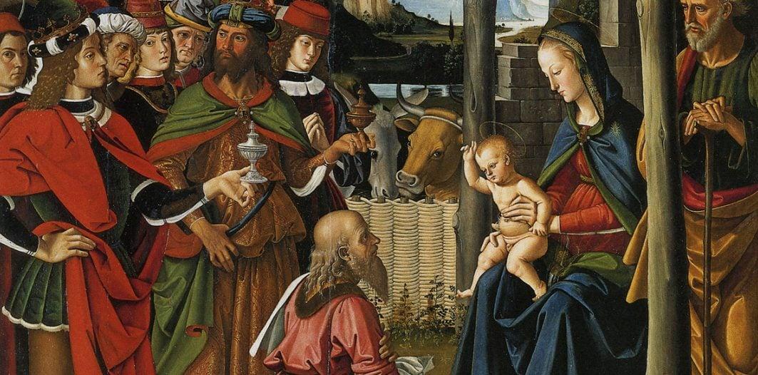 L'Adorazione dei Magi del Perugino è in mostra a Palazzo Marino, a Milano.