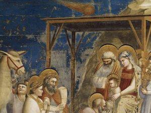 L'Adorazione dei Magi di Giotto (1303–305), Cappella degli Scrovegni, Padova.