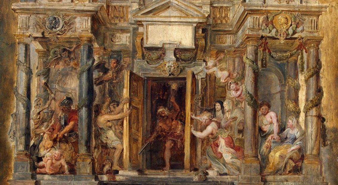 Il tempio di Giano in un dipinto di Pieter Paul Rubens.