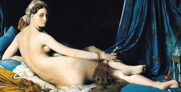 "Jean-Auguste-Dominique Ingres, ""La grande odalisca"" (1814), Museo del Louvre, Parigi."