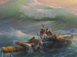 La nona onda, olio su tela di Ivan Konstantinovič Ajvazovskij (1850)