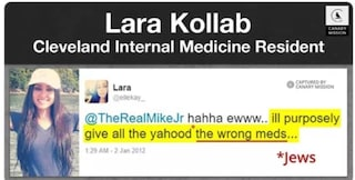 """USA, ospedale licenzia dottoressa che scriveva sui social: """"Do agli ebrei medicinali sbagliati"""""""