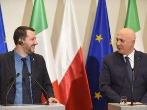 Matteo Salvini incontra il ministro dell'Interno polacco Joachim Brudzinski