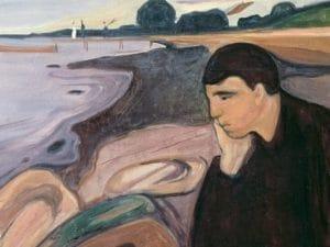 "Edvard Munch ""Malinconia"" (1894)."