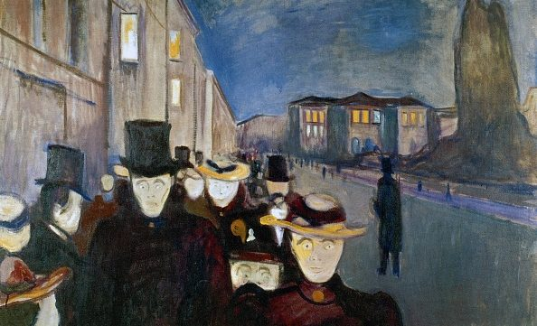 """Sera sul viale Karl Johan"", Edvard Munch (1892), Arts Museum, Bergen."