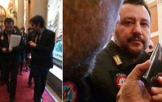 """Matteo Salvini a Possibile: """"Mi denunciano perché porto la divisa della Polizia? Mi fanno ridere"""""""