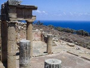 Il Parco Archeologico di Solunto, in Sicilia.