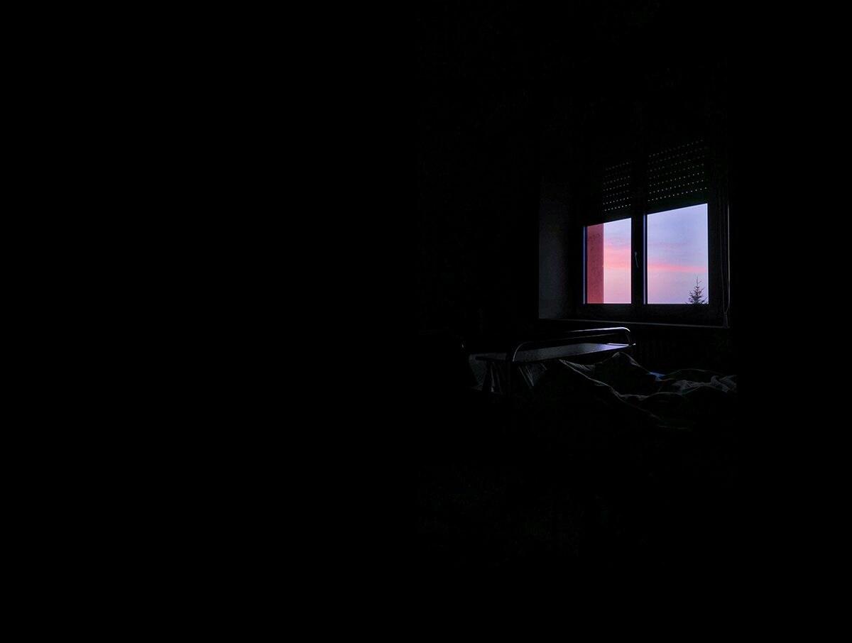 """Tramonto dalla camera dell'ospedale (Foto tratta da """"Naiade"""")"""