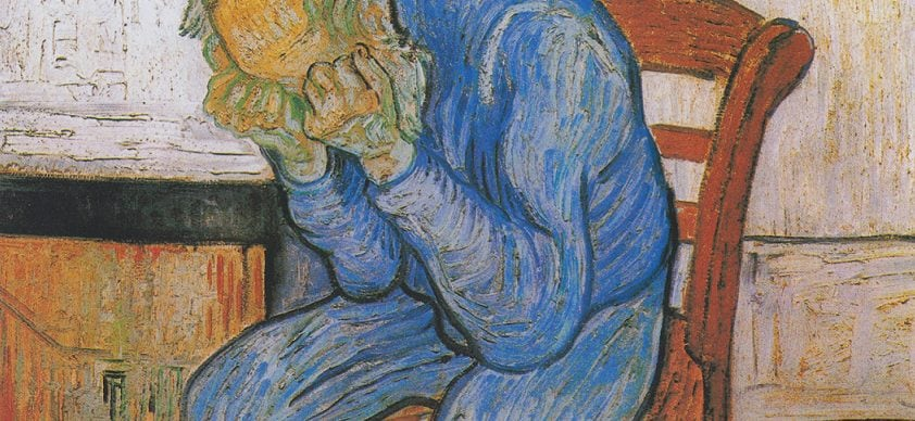 """Van Gogh, """"Sulla soglia dell'eternità"""" (1890), Museo Kröller-Müller, Otterlo."""