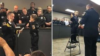 USA. Bimba di 6 anni malata di tumore realizza il suo sogno: Abigail giura da poliziotto