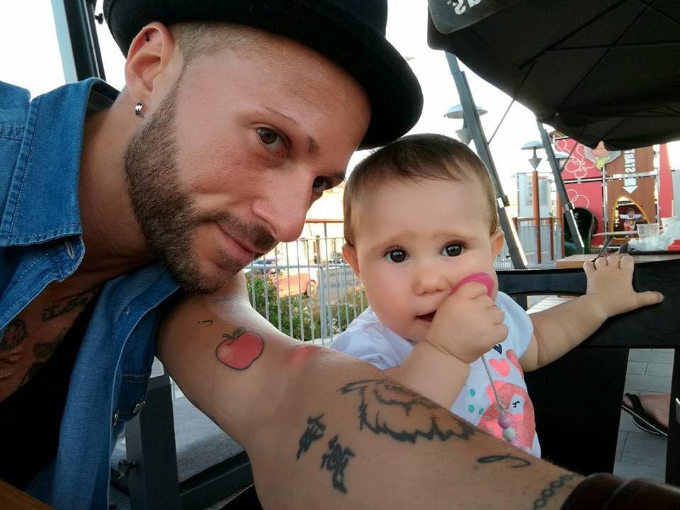 Ivan e sua figlia Viola da piccola