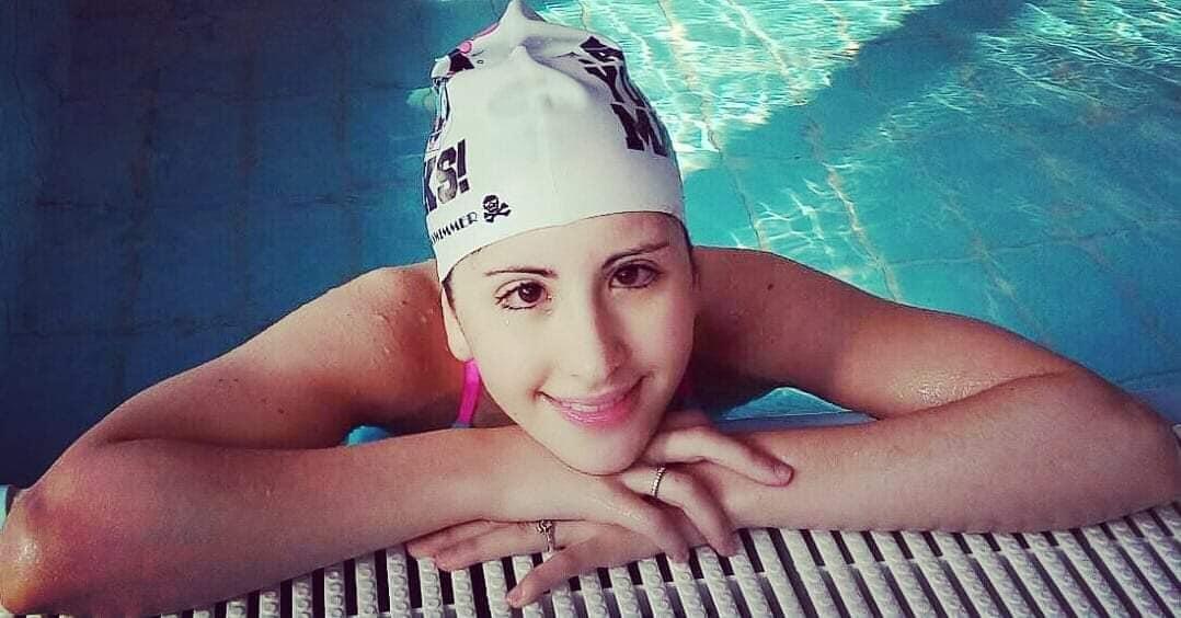 Giorgia e la sua amata piscina.