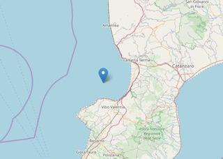 Terremoto in Calabria, scossa di 3.3 al largo di Vibo Valentia: avvertita fino a Catanzaro