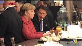 """Fuorionda Conte-Merkel a Davos. Il premier: """"M5s in sofferenza, Salvini è contro tutti"""""""