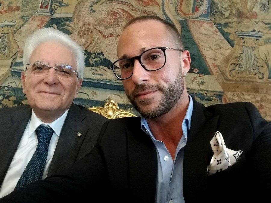 Con il presidente della Repubblica Sergio Mattarella