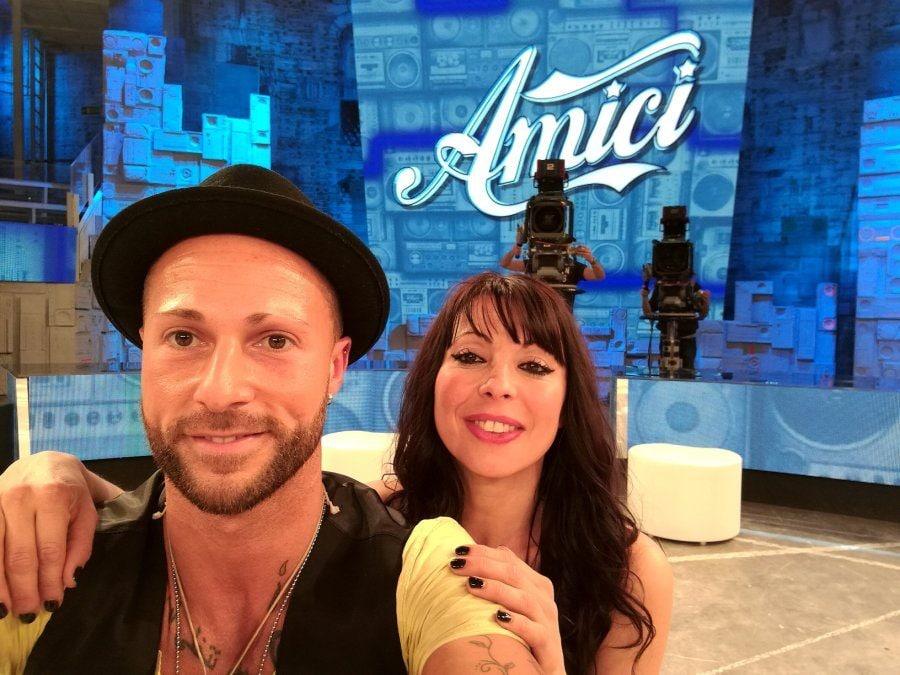 """Ivan nello studio di """"Amici"""" insieme alla ballerina Bianca Maria Berardi"""