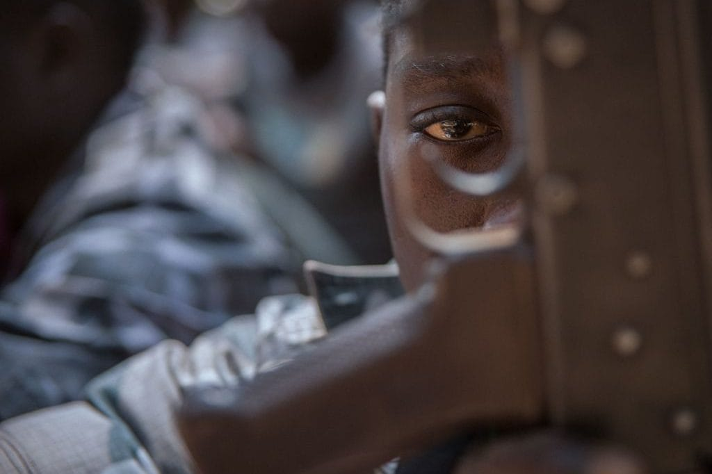 Un bimbo soldato in Sud Sudan (Gettyimages)