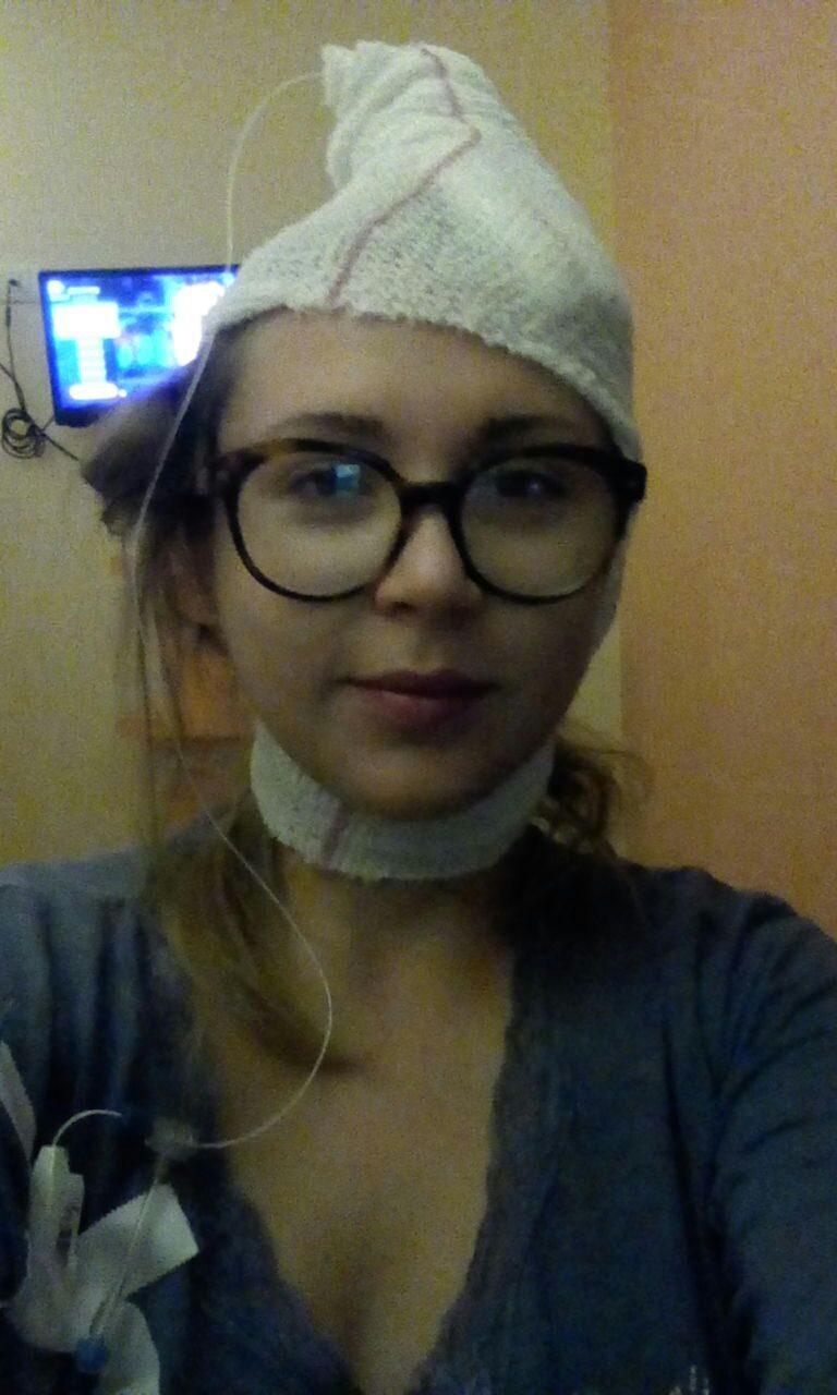 """Unica foto rimasta dell'ospedale, Celeste: """"Qui facevo il Grande Puffo""""."""