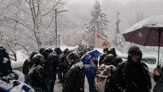Tav, a Chiomonte arriva Salvini. Momenti di tensione tra manifestanti e polizia
