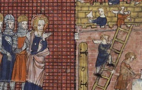San Valentino in una miniatura del XIV secolo oggi conservata a Parigi.