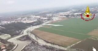Italia nella morsa del maltempo: il Reno allaga l'Emilia, 1,5 metri di neve su Dolomiti