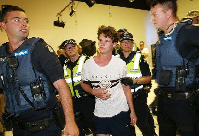 Il momento dell'arresto