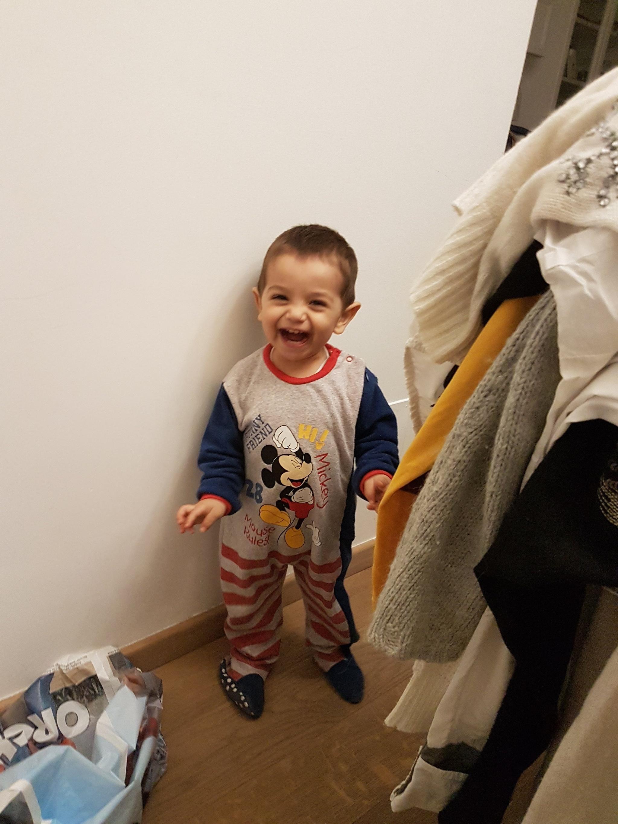 Il piccolo Thomas Ninni.