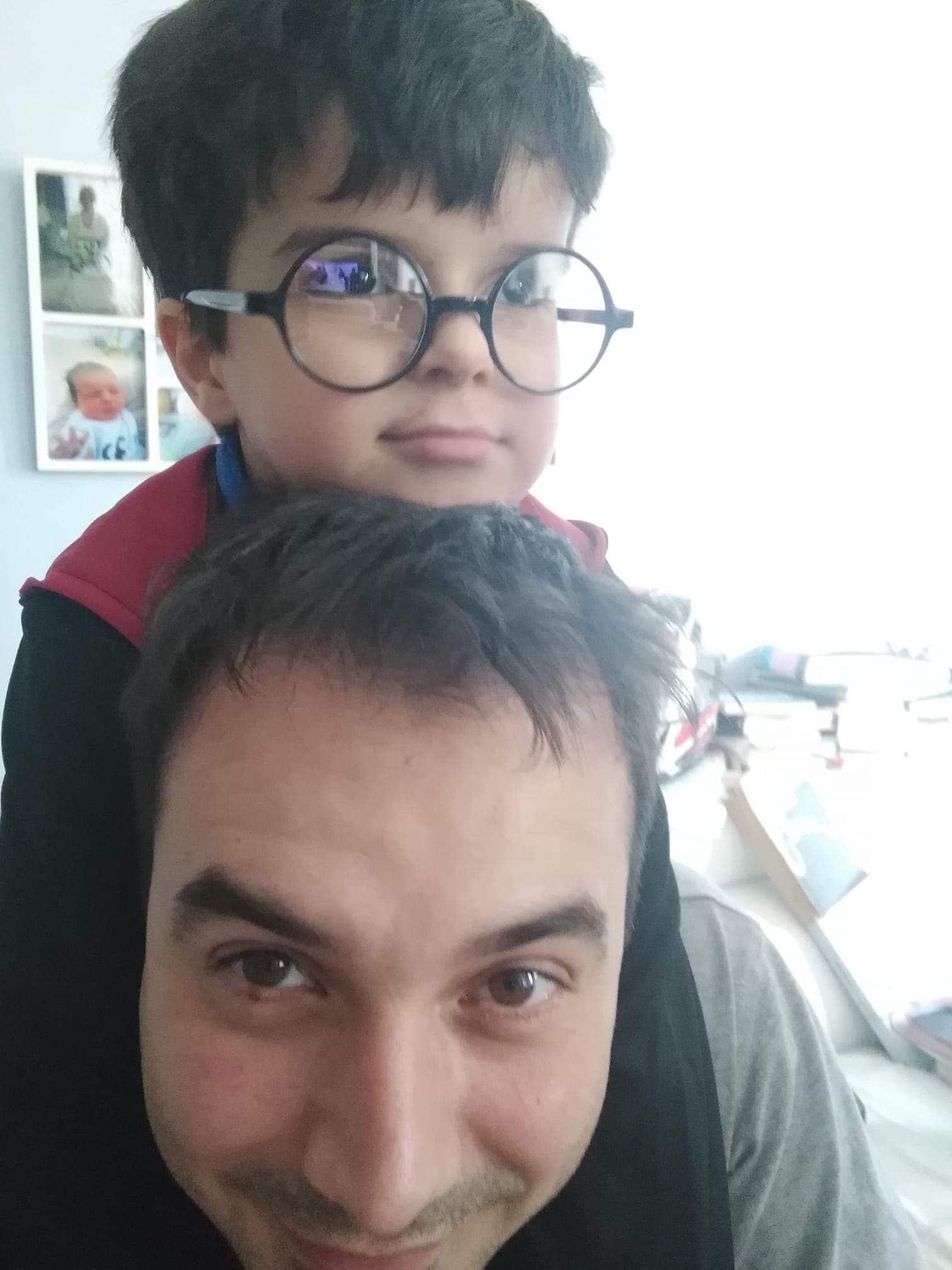 Daniele con papà Giuseppe.