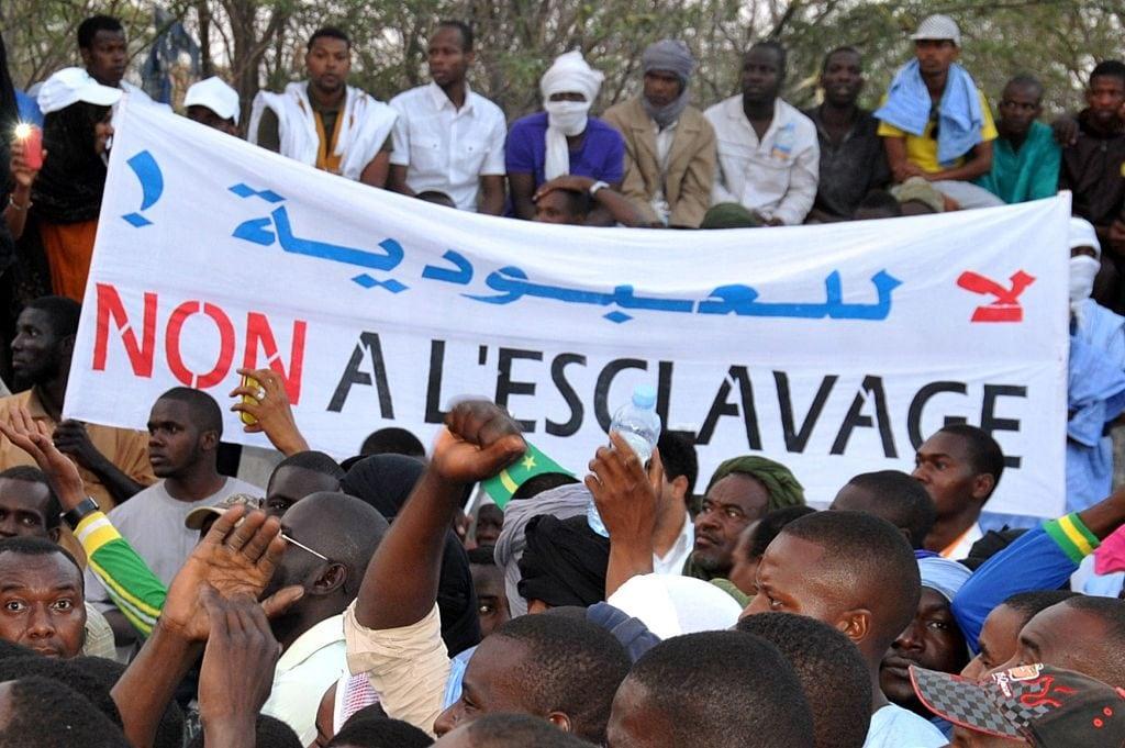Manifestazione contro la schiavitù in Mauritania (Gettyimages)