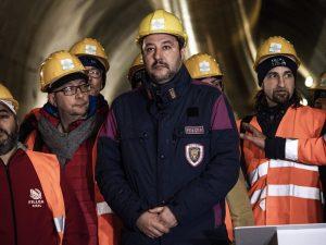 Matteo Salvini visita il cantiere Tav di Chiomonte