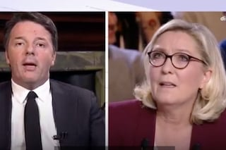 """Il duello in tv, Matteo Renzi contro Marine Le Pen: """"Lei ha perso sempre, io solo qualche volta"""""""