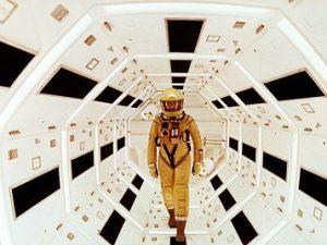 """Uno dei fotogrammi più famosi di """"2001: Odissea nello Spazio"""", di Stanley Kubrick."""