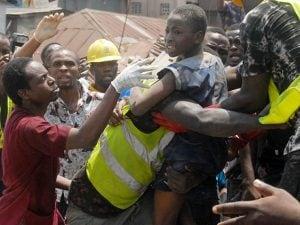 Uno degli studenti salvati a Lagos (Getty).