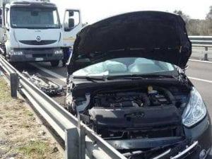 Immagine dell'Incidente sulla Lecce-Gallipoli (Twitter).