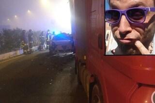 A4, con l'auto finisce sotto un tir: muore 40enne, è il figlio di un assessore del Vicentino