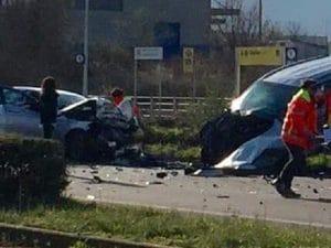 Immagine dell'incidente da Facebook.