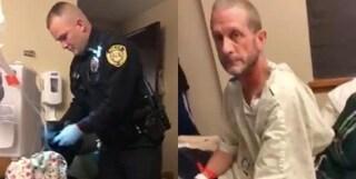 Strano odore in stanza, malato terminale di cancro perquisito dalla polizia in ospedale