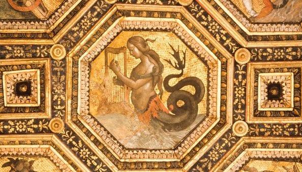 """Particolare del """"Soffitto dei Semidei"""" del Pinturicchio, conservato presso Palazzo della Rovere a Roma, visitabile nelle Giornate di Primavera del FAI."""