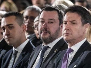In foto: i vice primi ministri Luigi di Maio e Matteo Salvini, e il premier Giuseppe Conte.
