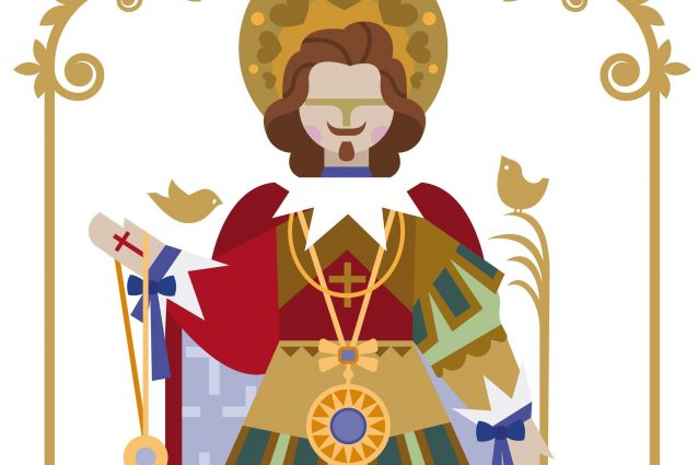 Rielaborazione grafica della statua di Sant'Efisio di Mara Damiani