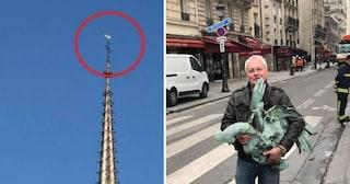 Incendio Notre-Dame, trovato il gallo con le reliquie che sovrastava la guglia crollata
