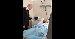 Sparatoria Foggia, il generale dell'Arma Giovanni Nistri visita in ospedale il carabiniere ferito