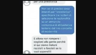 """E' italiana, ma non le affittano casa perché nera: """"Siamo razzisti e fascisti"""""""