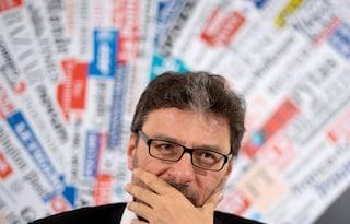 """La profezia di Giancarlo Giorgetti: """"A giugno verrà la grandine, governo non può vivere in stallo"""""""