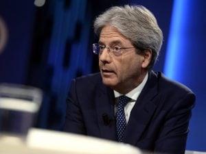 In foto: il presidente del Pd, Paolo Gentiloni.