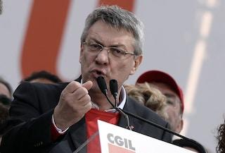 """L'affondo del segretario Cgil Maurizio Landini: """"Il governo è connivente con i fascisti"""""""