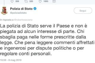 """Polizia risponde a Saviano: """"Serviamo Paese non politica, che pena leggere questi commenti"""""""