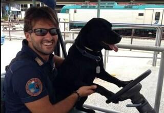 L'ultimo addio della polizia a Gino, il cane poliziotto portato via da un terribile male