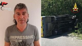 Padova, scuolabus rovesciato: autista torna libero con obbligo di presentazione